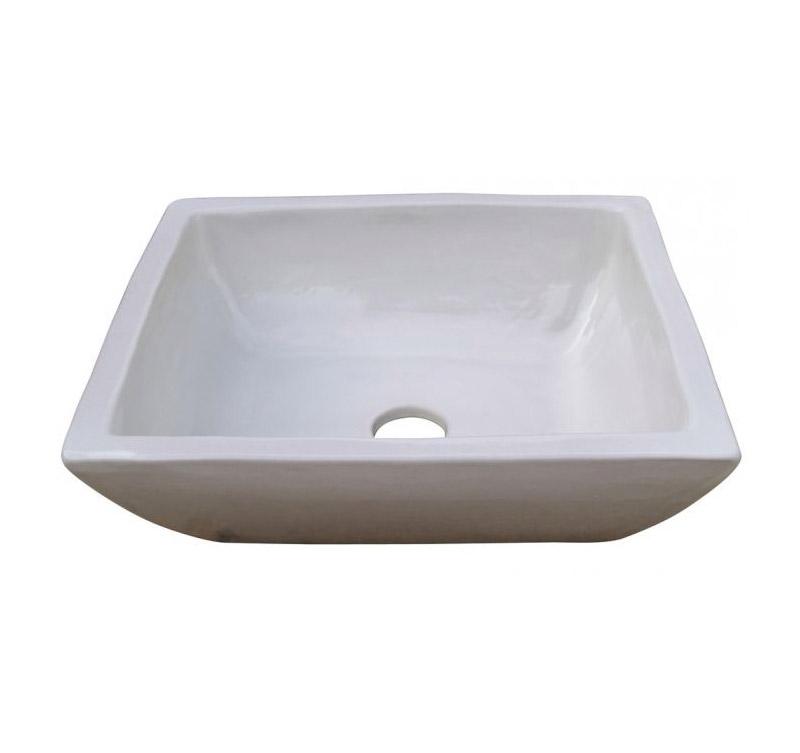 lavabo rectangular sobre encimera