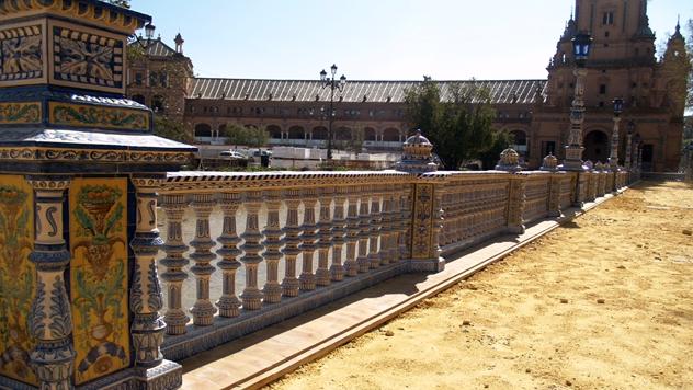 Restaurancion Plaza de españa de Sevilla