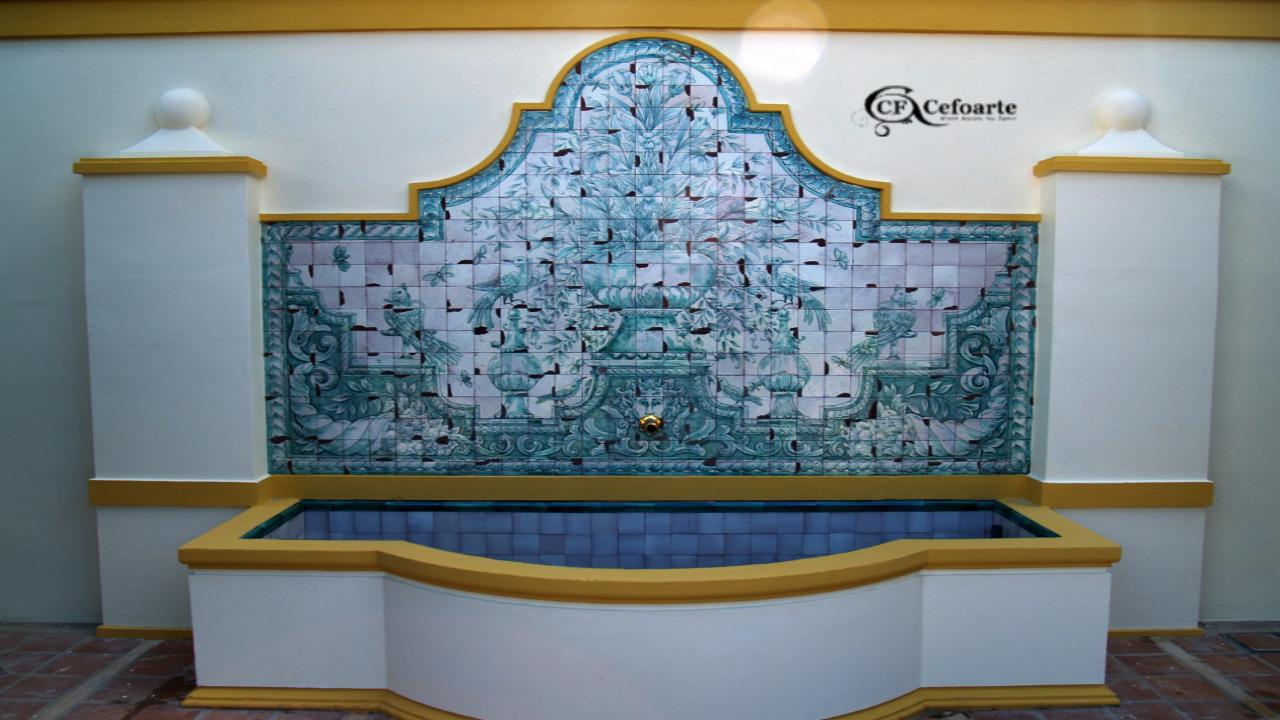 Mural de azulejos ceramica tiles en cer mica tiles for Azulejos artesanales