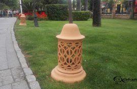 Farol artesanal terracota