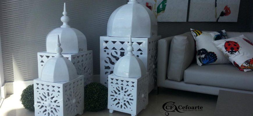 Farol de cerámica artesanal