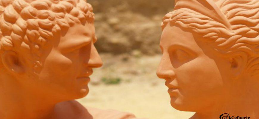 Bustos romanos en terracota