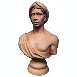 Busto africano de terracota