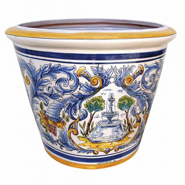 maceta de ceramica esmaltada