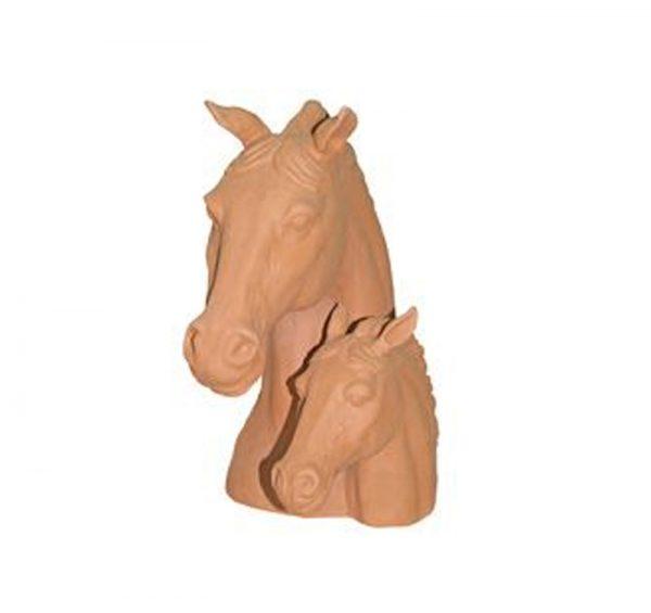 Cabeza caballos terracota