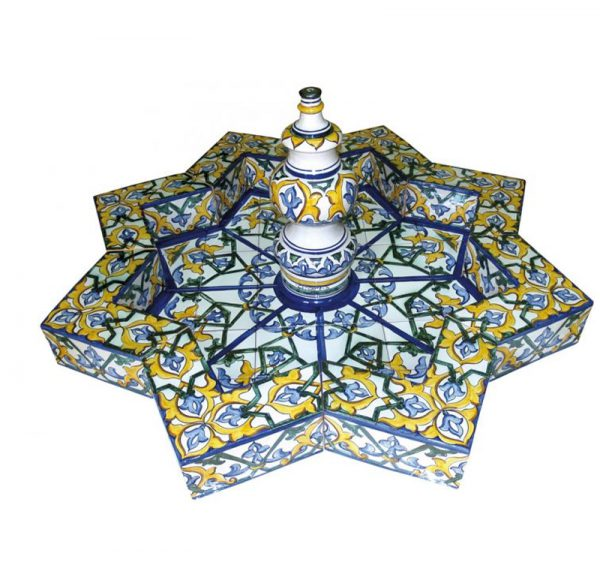 fuente arabe de ceramica