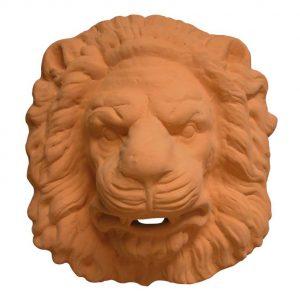 surtidor cabeza leon ceramica