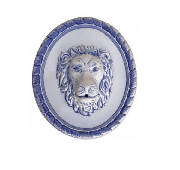 cabeza de leon ceramica