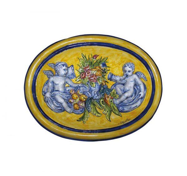 angelitos en ceramica