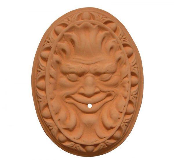 fuente cabeza terracota o ceramica