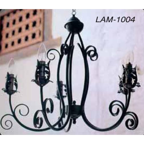 Lampara-techo-forja-5-luces-1004