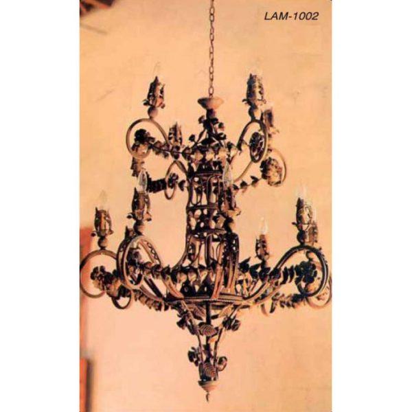 lampara-forja-2-cuerpos-hojas